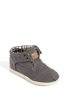 Free shipping and returns on TOMS 'Botas - Tiny' Canvas Boot (Baby, Walker & Toddler) at Nordstrom.com. Laceless style updates a charming ankle boot designed with a padded collar, soft lining and a cushioned leather footbed.
