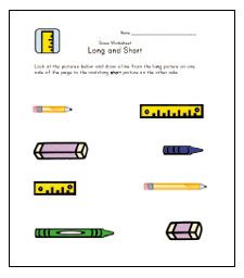 Teach Length - Long and Short Worksheets | Disco Math | Pinterest ...