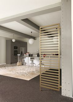 Radiateur Kadrane Claustra d'Acova Design Moderne, Dream Bathrooms, Interior Decorating, New Homes, House, Clem, Furniture, Dimensions, Corner