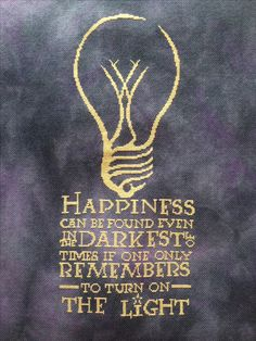 Happiness, from Harry Potter, Cross stitch pattern