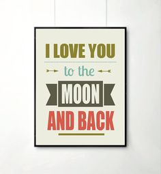 I Love you to the moon and back Inspirational by angelaferrara, $17.00