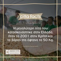 The largest pita ever made in Greece, was in 2001 and weighted 50 Kg. #Αchaikipita