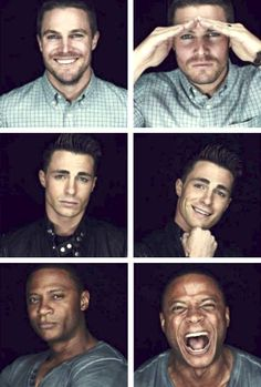 Colton Haynes, David Ramsey and Stephen Amell #SDCC