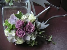 Petite Lavendar & White Bouquet by Aria Style / www.ariastyle.com https://www.facebook.com/AriaStyle