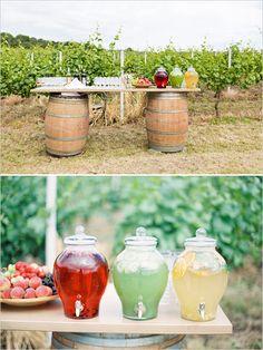 wedding refreshment station #drinkideas