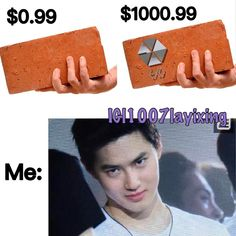 "CR TO (@1007layixing) on Instagram: ""That explains why I'm broke #exo #exom #exok #lay #zhangyixing #yixing #chanyeol #baekhyun…"""