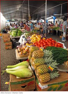 Hilo Farmers Market - Hilo, Island of Hawaii ... I want to sample fun things I have never even seen before!!