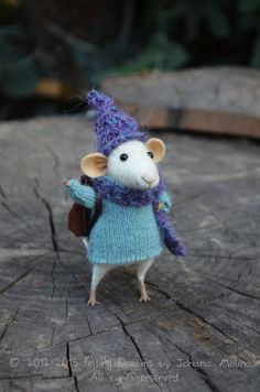 Little Pixie Traveler Mouse - Felting Dreams - READY TO SHIP on Etsy, $88.00