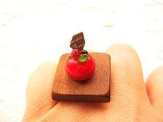 Kawaii Food Ring Miniature Food Jewelry