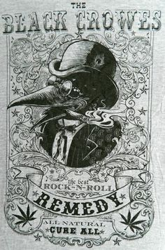 New The Black Crowes Remedy Classic Rock Band Licensed Concert Tour T Shirt Halloween Apothecary, Halloween Labels, Crow Art, Raven Art, Rock Posters, Band Posters, Art Hippie, The Black Crowes, Classic Rock Bands
