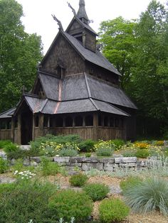 The Stavkirk Church located on Washington Island, Door County, Wisconsin was built entirely by community volunteers. The church and it's Scandinavian architecture pays homage to the island's status as the first Icelandic settlement in North America.