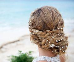 Wedding Pearl Head Chain, Bridal Headband, Pearl Headband, Wedding Hair…