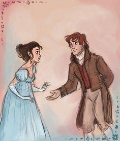 It looks like Disney concept art, which makes me realize we need a Disney princess movie set in the Jane Austen era. Jane Eyre, Character Inspiration, Character Design, Jane Austen Novels, Timberwolf, Elizabeth Bennet, Mr Darcy, Fanart, Desenho Tattoo