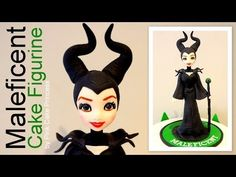 Halloween Maleficent Cake Figurine How to by Pink Cake Princess - YouTube
