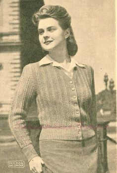 Subversive Femme: Curvy Month Pattern Nine: Lorna Cardigan, c 1940s