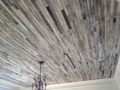 Would you ever use reclaimed wood on your ceiling? We think this is fabulous!