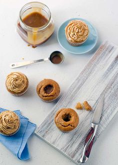 Gluten Free Salted Caramel Cupcakes with Agave Caramel filling