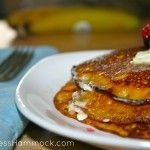 Peanut Cinnamon Paleo Squash Pancake Recipe - sub almond butter for the peanut butter