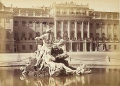 Schonbrunn fountain Vienna, Old Photos, Fountain, Empire, Louvre, Building, Travel, Antique Photos, Voyage
