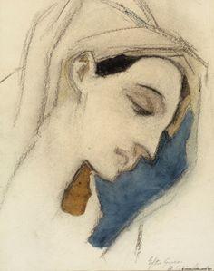 Neitsyt Maria, El Grecon mukaan, 1942 | Helene Schjerfbeck | Kansallisgalleria | Kuva Hannu Aaltonen
