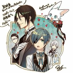 Black butler, Kuroshitsuji, Ciel Phantomhive, Sebastian Michaelis, Charles Grey, William T. Spears