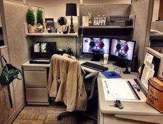 Home Office Decor Work Cubicle Decor, Work Desk Decor, Cubicle Design, Home Office Decor, Cubicle Ideas, Decorating Ideas For Office Cubicle, Decorate Office Cubicle, Cute Cubicle, Small Office Decor