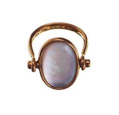Torun Bülow Hübe 18k gold ring, Georg Jensen Copenhagen 1945-77