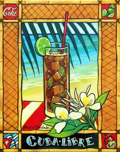 original painting cuba libre cocktail 16 X 20 by SuzySadakFineArt, $200.00