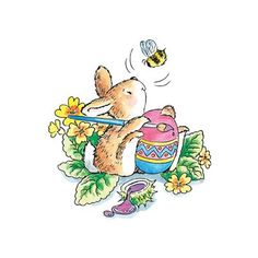 ☀ Penny Black, Inc. ☀ Rubber Stamps, Stickers ☀ Penny Black, Inc. Cute Drawings, Animal Drawings, Easter Paintings, Easter Illustration, Envelope Art, Bunny Art, Cute Clipart, Watercolor Cards, Watercolour
