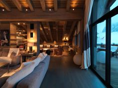La Bergerie – A Square Foot Newly Built Chalet In Courchevel, France – Natali Sznajderman – Join the world of pin Chalet Design, House Design, Design Design, Cabin Homes, Log Homes, Hotel Chalet, Ski Chalet, Chalet Interior, Interior Design