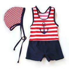 Free shipping 2014 new style swimsuit baby hot spring bathing suit Classic stripes vest  Boy swimwear children swim clothing $15.99