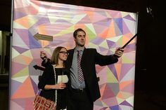 At a D.I.Y. photo booth, guests used selfie sticks to take their own photos. The activation was designed by sponsor Henry's Photography.   Photo: Tom Sandler