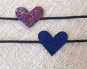 The Genevieve: Mini Glitter Hearts in Navy and Multicolor!