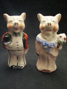 Vintage Formal Pig Couple Salt Pepper Shakers Made in Japan | eBay