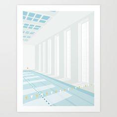 SVØMMEHAL Art Print