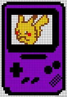 Gameboy perler bead pattern (I bet you could x stitch this)