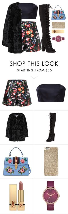 """Hairspray live"" by maddysleepy ❤ liked on Polyvore featuring Katie Ermilio, MANGO, Kendall + Kylie, Gucci, Michael Kors, Yves Saint Laurent and Nixon"