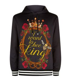 Dolce & Gabbana I Want To Be King Hoodie Black 465 GBP.