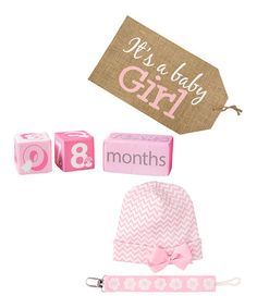 This 'It's a Baby Girl' Keepsake Set - Infant is perfect! #zulilyfinds
