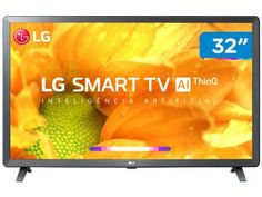 "Smart TV LED 32"" LG 32LM625BPSB Wi-Fi - Inteligência Artificial Conversor Digital 3 HDMI - Magazine Lojajessi Tv Led 40, Tv 32, Bluetooth, Wi Fi, Usb, Apple Tv, Tv Android, Smart Tv 4k, Operating System"