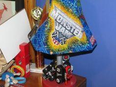 Remade Monster Jam lamp in Zack's room