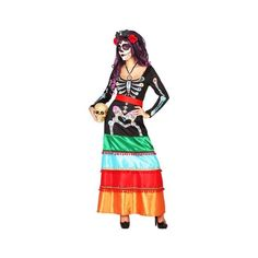 Faites sensation à votre prochaine soirée Halloween avec ce déguisement de squelette mexicain pour femme. Célébrez le jour des morts avec ce costume original. Costume Original, Soirée Halloween, Snow White, Wonder Woman, Costumes, Superhero, Disney Princess, Disney Characters, Party