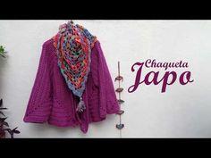 Crochet granny square clothes ganchillo Ideas for 2020 Crochet Winter, Crochet Jacket, Crochet Cardigan, Crochet Shawl, Knit Crochet, Knitting Videos, Crochet Videos, Crochet Scarf Tutorial, Patron Crochet