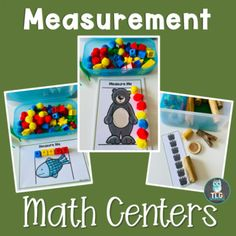 Math Centers--Bear Theme by Andrea Miller | Teachers Pay Teachers Graphing Activities, Reading Activities, Early Math, Early Literacy, Fish Patterns, Card Patterns, Activity Centers, Math Centers, Bear Theme Preschool