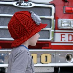 Firefighter Helmet - Crochet Pattern - Permission to sell finished items Firefighter Helmet Crochet Pattern Permission to by micahmakes Crochet Kids Hats, Crochet Yarn, Crochet Toys, Granny Square Crochet Pattern, Crochet Patterns, Hat Patterns, Crochet Ideas, Selling Crochet, Crochet Cardigan