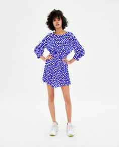 Image 1 of POLKA DOT BELT DRESS from Zara