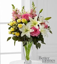 The FTD® Blooming Rose & Lily Bouquet by Better Homes and Gardens®