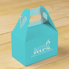 The Future Mrs.-Blue Wedding Wedding Favor Boxes