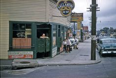 Providence, 1955 corner of Abbott and North Main Narragansett Beer, Rhode Island History, University Of Rhode Island, Providence Rhode Island, City By The Sea, Retro Images, Old Photos, Vintage Photos, Small Towns