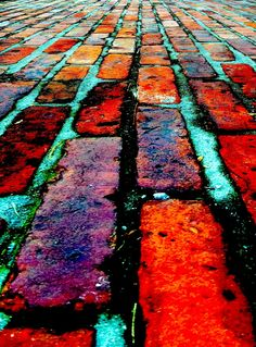 The Red Brick Path at the Morris-Jumel Mansion, Harlem, New York